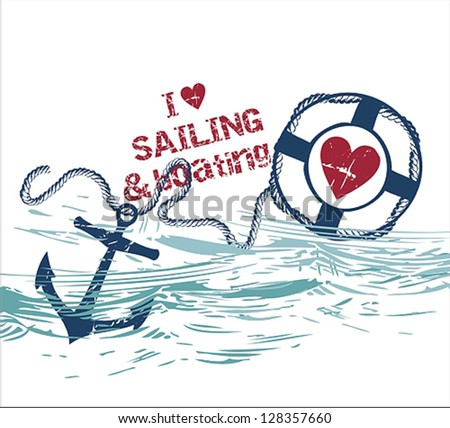 Marine Design - stock vector
