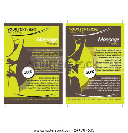 2 Massage Flyer Template Stock Vector 244987633 Shutterstock