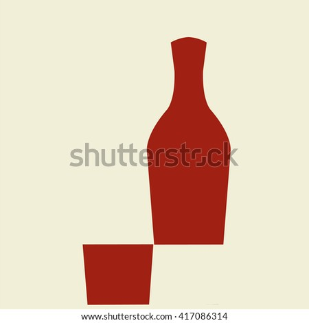 Mathematics with alcohol. A full wine bottle minus a full wine glass, from the bottom of the bottle, is equal with a full wine bottle.