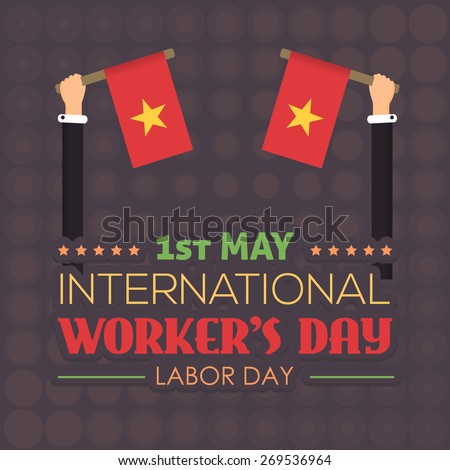 1 May Worker's Day - stock vector