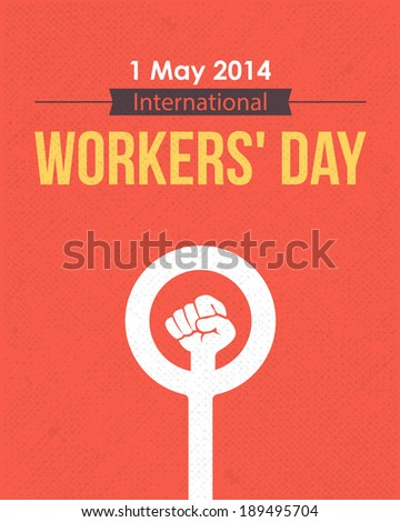 1 May Worker's Day Poster Flyer - stock vector