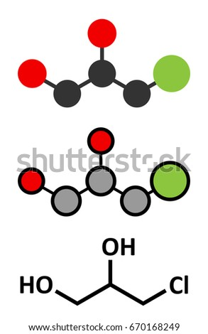 3 Mcpd Carcinogenic Food Byproduct Molecule Produced Stock Photo