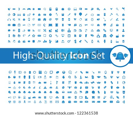 Media icon set High - Quality - stock vector