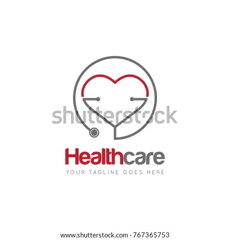 medical health care stethoscope logo icon stock vector 767365753, Powerpoint templates