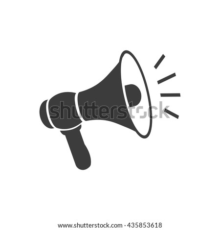 Megaphone icon.  Megaphone Vector isolated on white background. Flat vector illustration in black. EPS 10 - stock vector