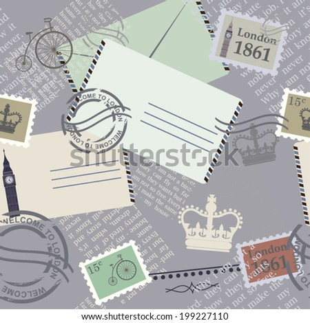 memory background with letters - stock vector