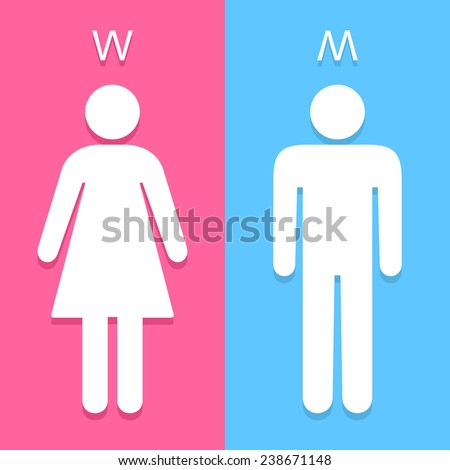 Men and Women toilet sign great for any use. Vector EPS10. - stock vector