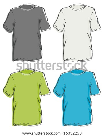 Menâ??s Blank T-Shirts - stock vector
