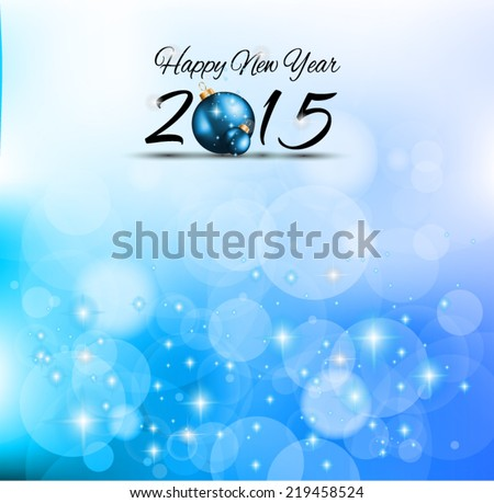 2015 Merry Christmas and happy new year background with a lot of glitter and colorful lights - stock vector