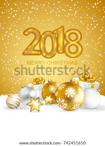 Merry Christmas Happy New Year Card Stock Vector 506685547 ...