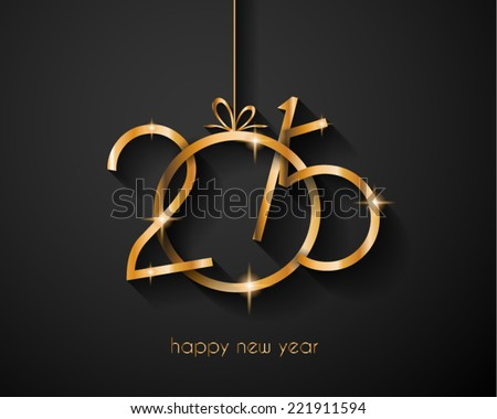 2015 Merry Christmas and Happy New Year Flyers, covers, posters and pages. - stock vector
