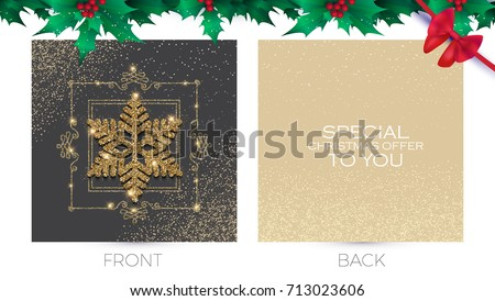 Merry christmas new year elegant offer stock photo photo vector merry christmas and new year elegant offer cards template business cards vip greetings accmission Choice Image
