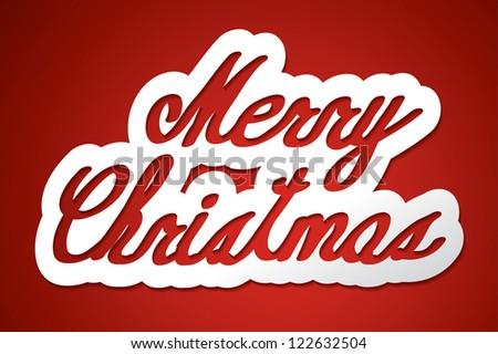 'merry christmas' handmade calligraphy, vector EPS10 - stock vector