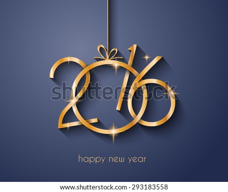 2016 Merry Chrstmas and Happy New Year Background for your dinner invitations, festive posters, restaurant menu cover, book cover,promotional depliant, Elegant greetings cards and so on. - stock vector