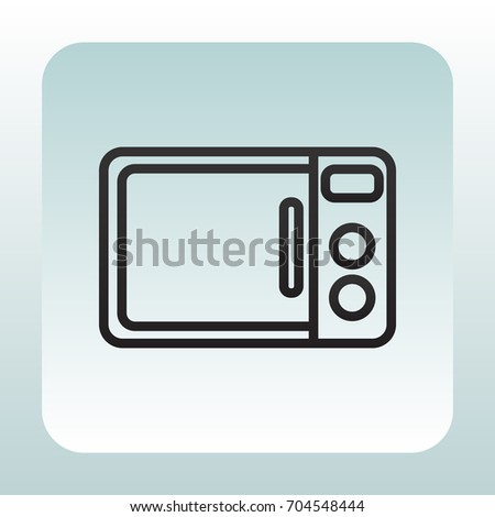 microwave clipart. microwave oven icon vector. clipart