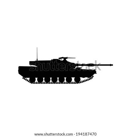military tank - stock vector