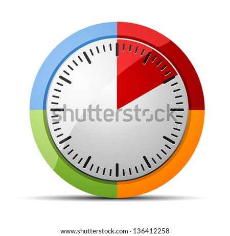 10 Minutes timer - stock vector