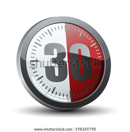 30 minutes timer stock images royalty free images. Black Bedroom Furniture Sets. Home Design Ideas