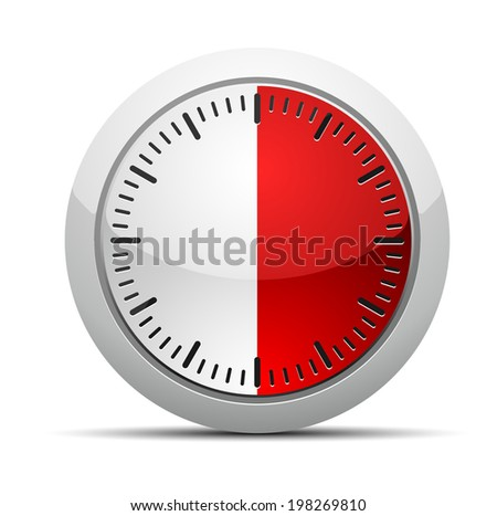 30 Minutes Timer - stock vector