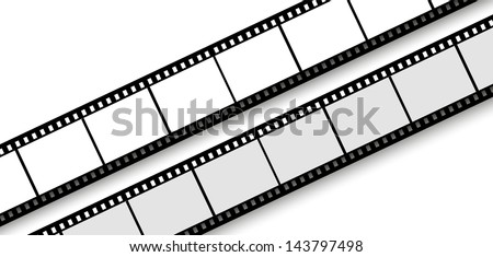 35 mm filmstrip isolated on white background
