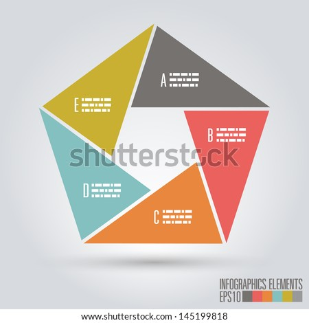 Modern Infographics Template - stock vector