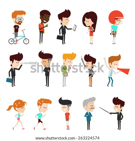 modern people in lifestyle  flat design - stock vector