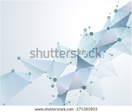 molecular polygonal background abstract eps10 vector illustration