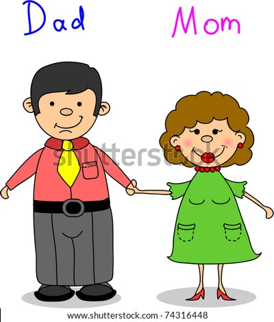 Dad And Mom Cartoon Stock Images, Royalty-Free Images ...