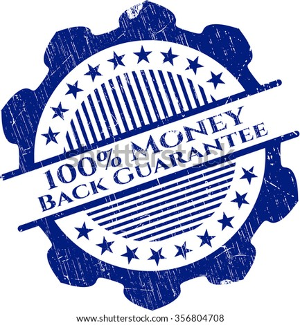 100% Money Back Guarantee rubber grunge stamp