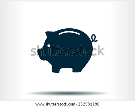 moneybox vector icon - stock vector