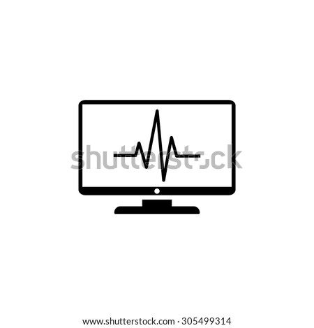 monitoring icon - stock vector