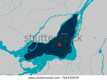 Montreal map montreal city quebec canada stock vector 766920034 montreal map montreal is a city in quebec canada gumiabroncs Gallery