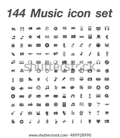 144 Music icon set