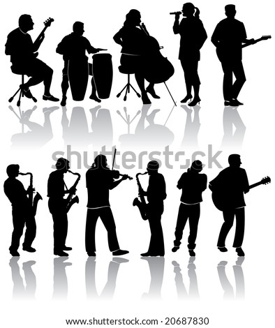 11 Musician Silhouettes