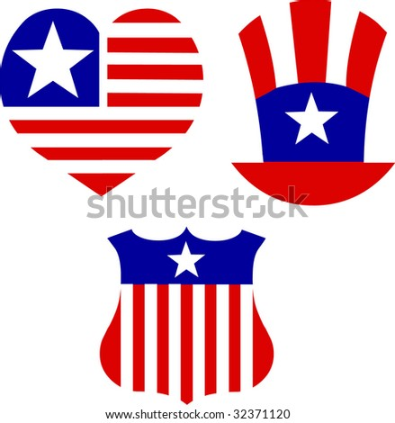 National American symbolics - stock vector