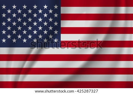 National flag United states of America