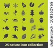 25 nature icon collection - stock vector