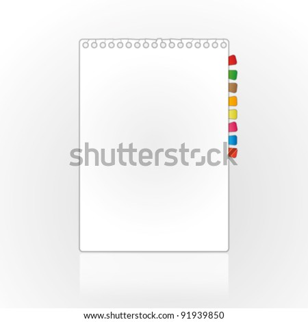 New blank page on abstract backgrounds.