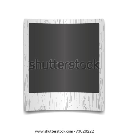 New single photo on wooden texture backgrounds. - stock vector