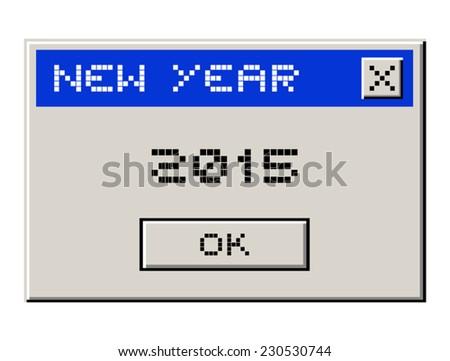2015 new year - stock vector