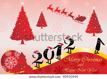 2012 New Year - stock vector