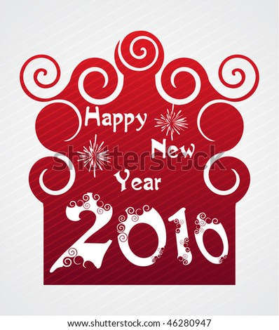 2010 new year abstract background