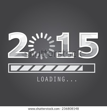 2015 new year background,  greeting card, backdrop - stock vector