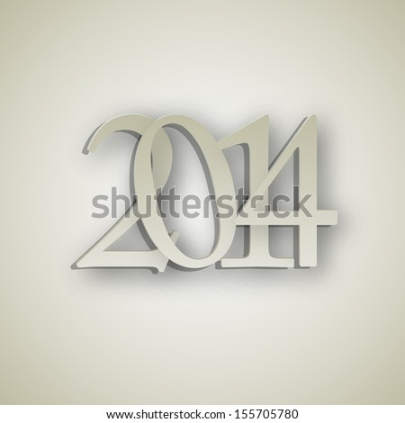 2014 New Year background vector illustration - stock vector