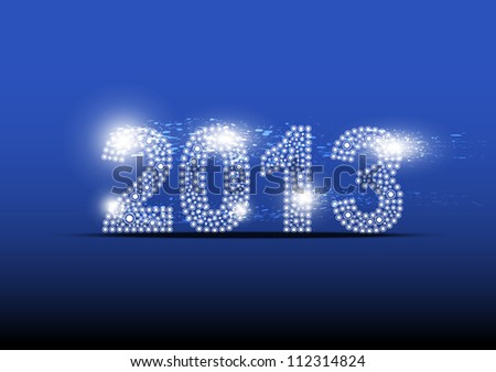2013 new year banner design - stock vector