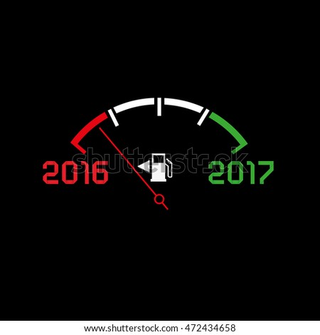 2017 New year comming dark theme, abstract illustration. Editable vector