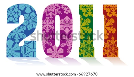 2011 new year composition - stock vector