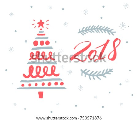 New Year Greeting Card Template Stock Vector