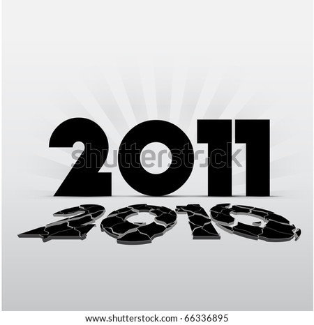 2011 New Year Illustration - stock vector