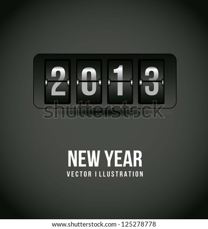 2013 new year over gray background. vector illustration